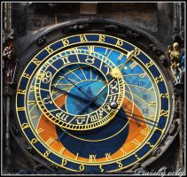 Prague Astronomical Clock by Larxziss