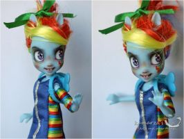 Equestria Girls Rainbowdash doll repaint 1 by kamarza