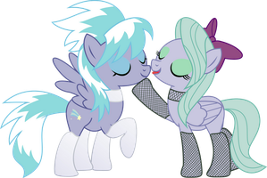 Cloudchaser and Flitter PNG by leopurofriki