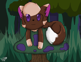 Sam in the forest by KittenthePsycho