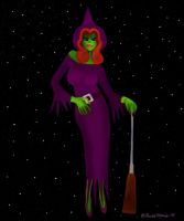 Lily The Frog As Witchy Woman by youlittlemonkey