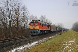 628 303 with a freight train in Gyorszabadhegy by morpheus880223