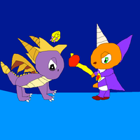 Classic Spyro and Ripto stare down by SuperSmashCynderLum
