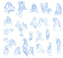 Random poses 23 (massive sheet) by BBstudies