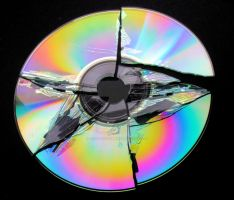Broken CD by teslaextreme