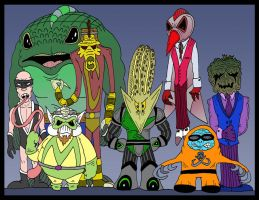 The Worm Rogues Gallery by Lordwormm