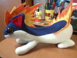 Super Big Simplified Quilava Plush by Vulpes-Canis