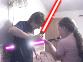 Me being stabbed by my sister by richiebeebe