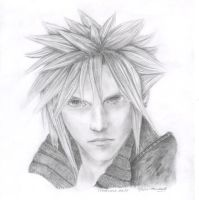 Cloud Strife Portrait by aurormish