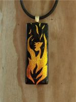 Phoenix Rebirth Fused Glass by FusedElegance