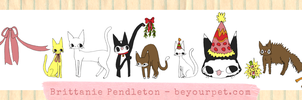 A Cat Party - New Years Cats by beyourpet