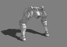 Mecha Concept WIP back by dematics