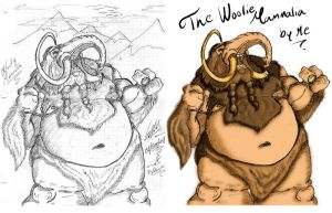 Woolie Mammalia Antes-Despues by DrAlpha