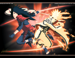 Epic Battle: Madara Uchiha vs Naruto Uzumaki by LiderAlianzaShinobi
