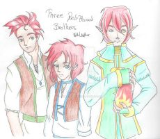 [OCs] Three  Red Haired brothers by FeithLAuthor