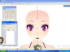 [MMD] Kimi Append Face WIP by 2sidestome