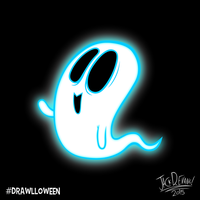 Drawlloween 1 - Ghost by Moon-manUnit-42