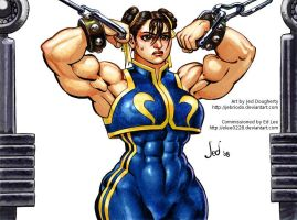 Commission: Chun Li Workout by Jebriodo