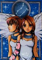 C: ACEO #76: Sailor Gemini by MTToto