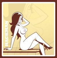 Pinup Girl Inked sketch by Hackman23