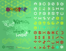 Gametaz Typeface by nagash