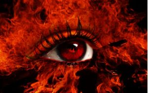 Fire eye by sarafreak