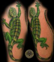 Iguana Big Tattoo Color by 2Face-Tattoo
