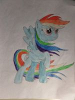 Rainbow Dash Drawing  (Complete) by CrystalWhiteTail