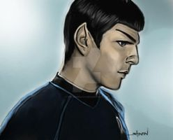 Zachary Quinto as Spock - Color version by StevenWilcox