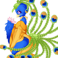 Peacock Girl by punipaws