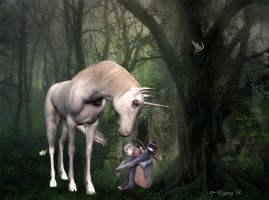 Little Fae and Unicorn by GypsyH