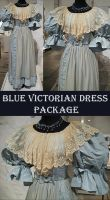 Blue Victorian Dress Package by Avestra-Stock
