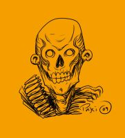 Zombie Skull Head by Rustyoldtown