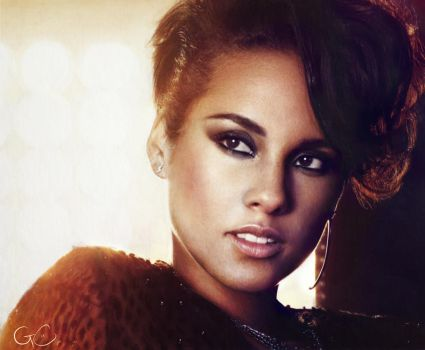 [drawing] Alicia Keys by GenevieveViel