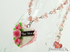 For You Heart Cake Necklace by SweetandCo