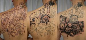 Progress Biomech Gear wheel by 2Face-Tattoo