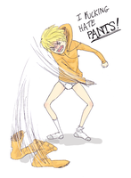 Kenny hates pants (swearing) by ike-no-koi