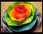 Duct Tape Rainbow Rose Closeup by DuckTapeBandit