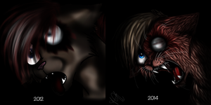 ''Red'' redo - comparison by TangledTabby876