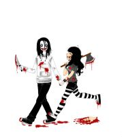 Jeff the killer y Yo 8D by YamiGranzchesta