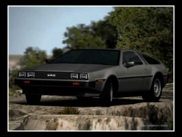 DMC Delorean 2 from GT4 by D4v3yTh3D0rk