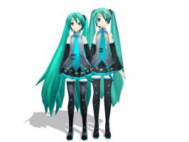 MMD: My beautiful P.D. Miku's by gothicjinx101