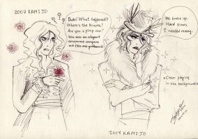 KAMIJO from 2007 meets his 2014 self by Ascendead--Master