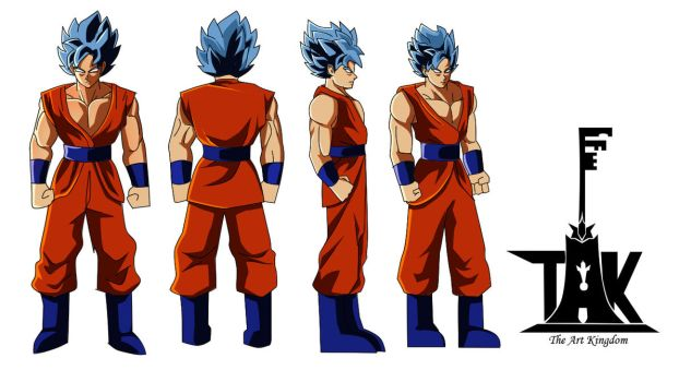 Official TAK Goku reference sheet by ShadowBT