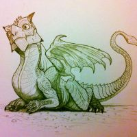 Infant Mountain Dragon by artisticallyautistic