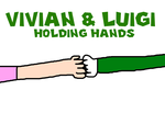 Vivian and Luigi Holding Hands by MikeEddyAdmirer89