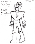 (DRAW) Trying to do Puyo Puyo Style. With Elec Man by Thunderblade2001