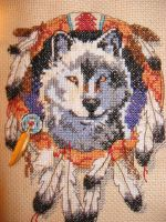 Native American cross-stich by bluekitty90