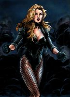 Black Canary Colored by JGiampietro