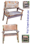 wooden benches png by Elsapret